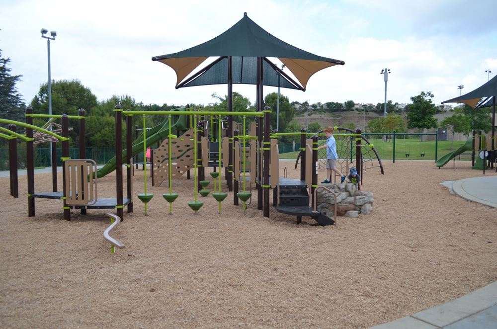Second View of Ronald Reagan Park's New Playground