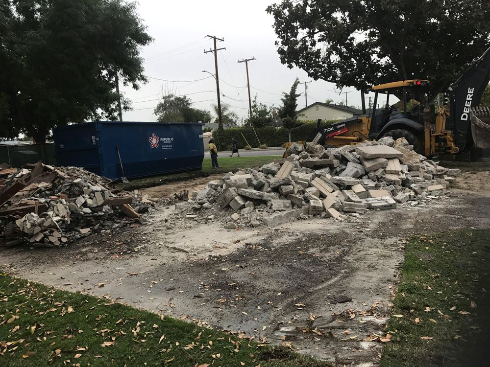 Peter Marshall Park after removal of restroom