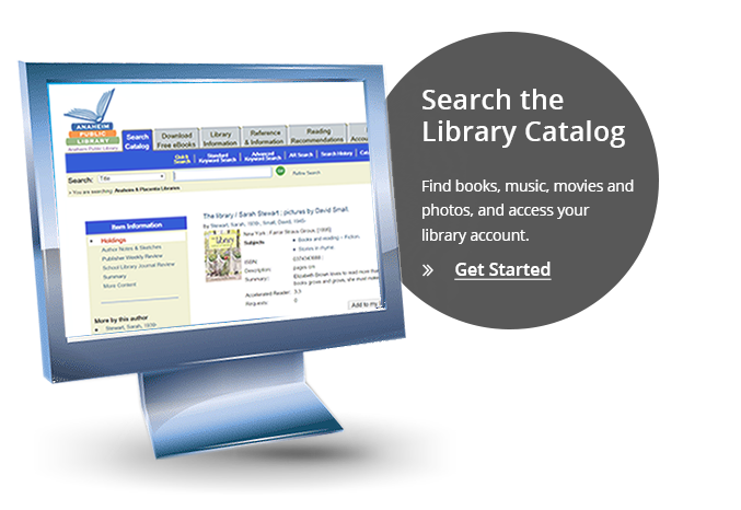 Search the Library Catalog - Find books, music, movies and photos, and access your library account.
